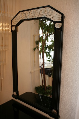 Art d co konsole mit spiegel und stuhl ingrid boese lagergren art deco kunst antiquit ten - Konsole mit spiegel ...